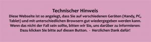 Technischer Hinweis bzgl Gerätegrößen und Browsern