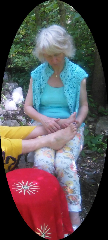 Behandlung energetisch-intuitive Fußbehandlung